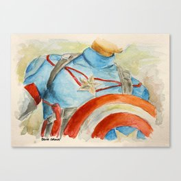 Capt America - Fictional Superhero Canvas Print