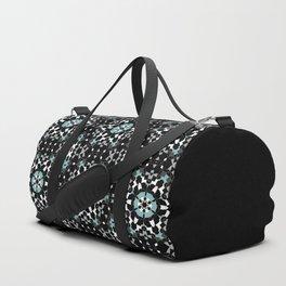 Black, blue, ornament Duffle Bag