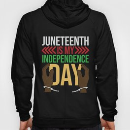 Juneteenth Celebration Black Flag June 19 1865 Hoody