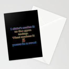 Funny One-Liner Gym Joke Stationery Cards