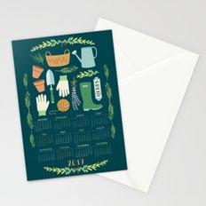 2017 Herb Garden Calendar Stationery Cards