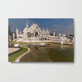 White Temple Metal Print