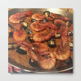 Shrimp Mussel Rice Metal Print
