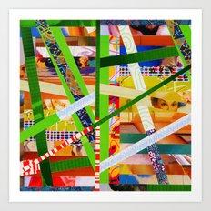 Lisa (stripes 11) Art Print