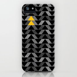 Triangle -Yellow and Grey iPhone Case