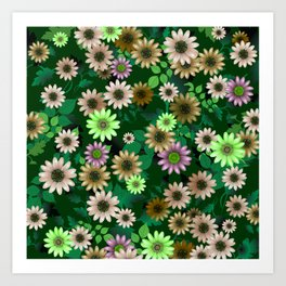 Multicolored natural flowers 5 Art Print
