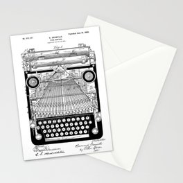 patent art Granville Type Writer 1900 Stationery Cards