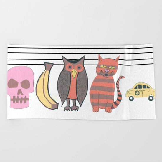 The Unusual Suspects Beach Towel