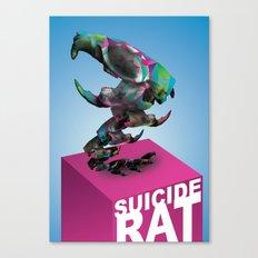 Suicide rat Canvas Print