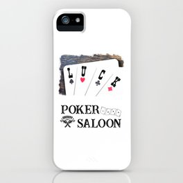 Welcome to the Poker Saloon iPhone Case