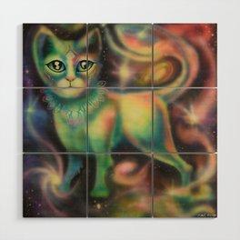 Cosmic Kitten Wood Wall Art