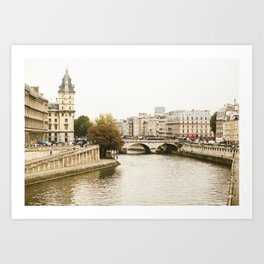 Le Seine River in Paris. Art Print