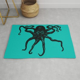 From the Deep Aqua - Octopus by Seasons Kaz Sparks Rug