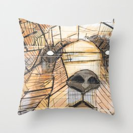 Lion Graffiti Throw Pillow