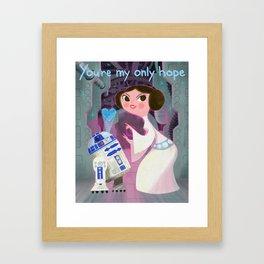 My Only Hope. Framed Art Print