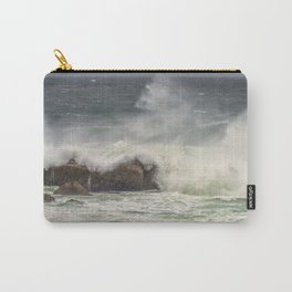 Ocean wave's crashing on rocks Carry-All Pouch