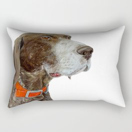 Anja the German Shorthair Pointer Rectangular Pillow