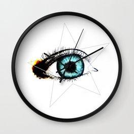 Looking In #3 - Original sketch to digital art Wall Clock