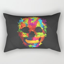 Meduzzle: Colorful Geometry Skull Rectangular Pillow