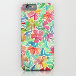 Tropical Floral Watercolor Painting iPhone Case