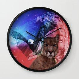 Native American Indian Wall Clock