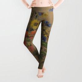 Odilon Redon - Wildflowers Leggings