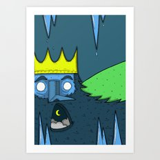 Boreas the Ice King Art Print
