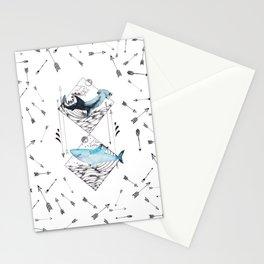 sharks & arrows Stationery Cards