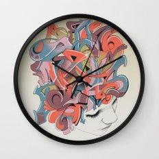 Graffiti Head Wall Clock