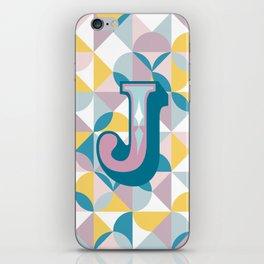Letter J iPhone Skin