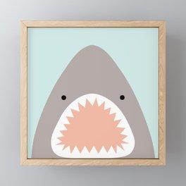 shark attack Framed Mini Art Print
