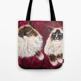Posing Cats Tote Bag