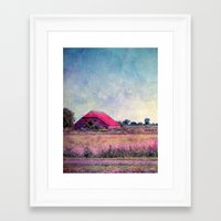 country Framed Art Prints featuring country by Claudia Drossert
