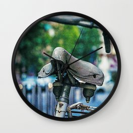 Bicycle in the center of Milan Wall Clock