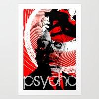 psycho Art Prints featuring psycho by RIGOLEONART