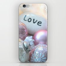 Romantic Shabby Chic Holiday Christmas Ornaments Love Print and Home Decor iPhone & iPod Skin