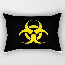 Hazard biologic warning signal design Rectangular Pillow