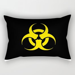 Hazard biologic warning signal design Rectangular Pillow