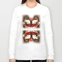 givenchy Long Sleeve T-shirts featuring Givenchy mask by cvrcak