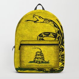 Gadsden Don't Tread On Me Flag - Worn Grungy Backpack
