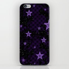 Purple Neon Stars iPhone Skin
