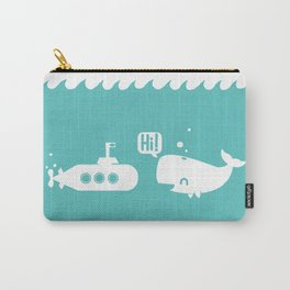Friendly Whale Carry-All Pouch
