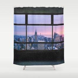 New York City Skyline Views Shower Curtain