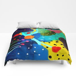 Abstract Art - Lagoon mushrooms rupydetequila amazonia dots cheetah Comforters