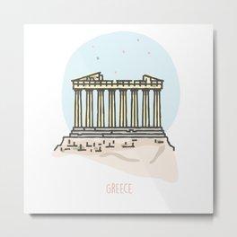 Greece - Acropolis Metal Print