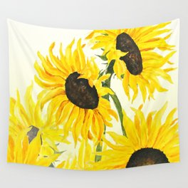 sunflower watercolor 2017 Wall Tapestry