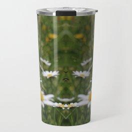Wildflowers and Bee (pattern) Travel Mug