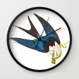 Swallow-tailed Hawk Wall Clock