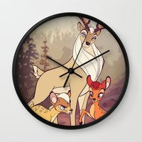 legolas Wall Clocks featuring Elven Deer by rdjpwns