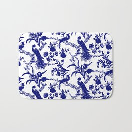 Royal french navy peacock Bath Mat